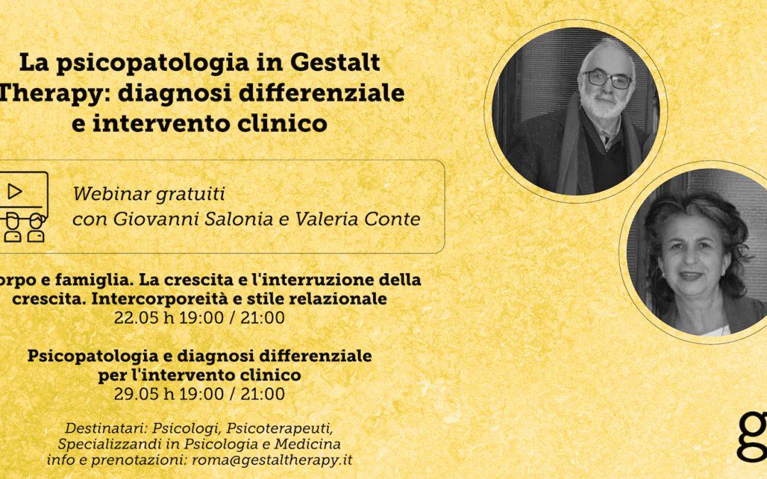 VIDEO. Psicopatologia e Gestalt Therapy. Con Giovanni Salonia e Valeria Conte